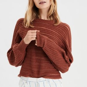 American Eagle TEXTURED PULLOVER SWEATER